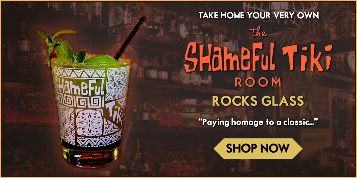 Shameful Tiki Room Rocks Glass For Sale